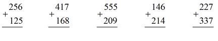 Cộng các số có ba chữ số (có nhớ một lần) - Toán lớp 3
