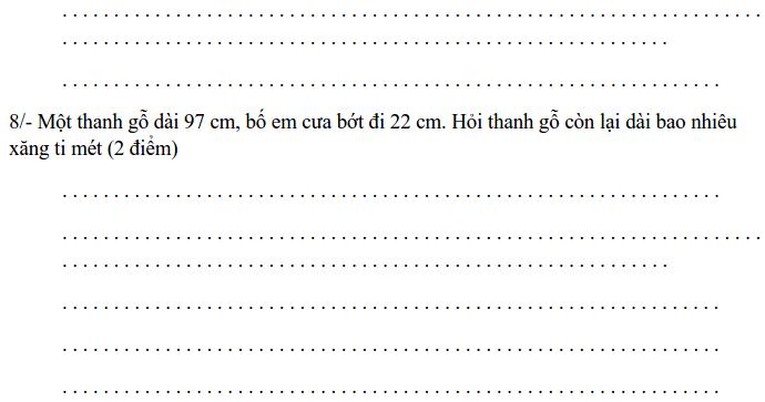 30 đề thi HK2 môn Toán lớp 1 có đáp án-1